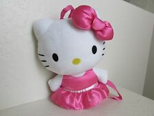 "Sanrio HELLO KITTY BACKPACK 13"" Cat Plush Stuffed Animal"