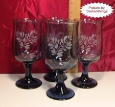 Pfaltzgraff YORKTOWNE Pedestal Water Glass 10 Ounce Set of FOUR Etched A++