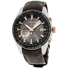 Seiko Astron Brown Dial Leather Strap Men's Watch SSE095