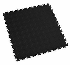 ECO Diamond schwarze PVC-Werkstatt-Garagen-Boden-Fliesen-Fliese KLICK-Verlegung