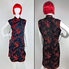 Costume Anime red bob wig long Embroidered dress Size XL Cosplay Dress With Wig