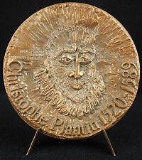 Médaille Christophe Plantin relieur imprimeur compas d'or Anvers May Néama medal