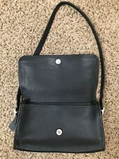 Coach Shoulder Bag Purse Black Genuine Leather Vintage Designer Bag EUC