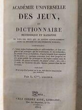 COUSIN D'AVALLON / ACADEMIE UNIVERSELLE DES JEUX ou DICTIONNAIRE /1824
