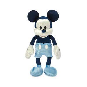 """Disney Parks 13"""" Mickey Mouse Blue Velvet Plush"""