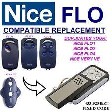NICE FLO1 / Nice FLO2 / FLO4 compatibile radiocomando telecomando 433,92MHz CLON