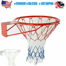 Indoor Outdoor Wall Mounted Basketball Ring Rim Hoop Hanging Basket Tools US