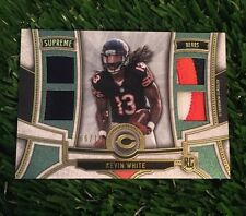 2015 Topps Supreme RC Kevin White Quad 3 CLR Patch Relic SP #ED /10 Bears