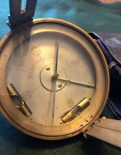 Antique 1900's W.&L.E Gurley Brass Surveyors Compass w/ Leather Case. Troy, N.Y.