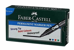 Faber-Castell Permanent Marker Pen Pack of 10 FREE SHIP