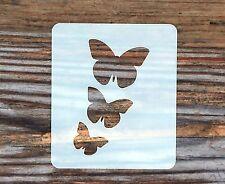 3 Mariposas Cara Pintura de la plantilla 6cm X 7cm, Lavable a reutilizable de Mylar de 190 Micrones