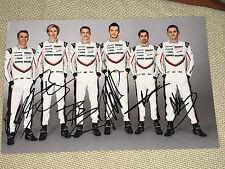 Porsche Team WEC 2017 Le Mans ALL 9 Drivers Signed 20x30 Photo Foto ***TOP***