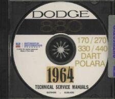 DODGE 1964 Dart/Polara/330/440 Shop Manual CD 64