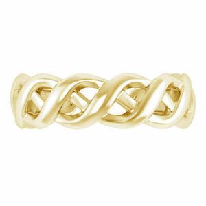 10K Yellow Gold Finish Adjustable Celtic Toe Ring For Women's / Cuban Toe Ring