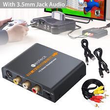 AV S-Video to HDMI Converter 3.5mm 3RCA AV CVBS Audio to HDMI Adapter Alloy NEW
