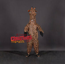 Inflatable Giraffe Mascot Costume Adult Animals Blow up Parade Party Fancy Dress