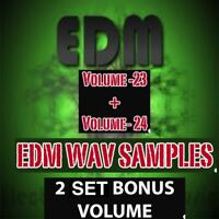 EDM (Vol 3+4)- 2 VOLUME BONUS-  UNIVERSAL Wav Loops + Samples  FAST DOWNLOAD