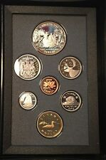 Canada 1989 Proof Set Mackenzie River Silver Dollar