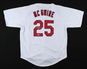 Mark McGwire Signed St. Louis Cardinals Jersey (Beckett COA) Big Mac / 583 HRs