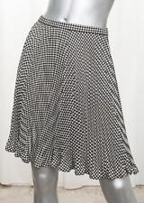GIANNI VERSACE COUTURE Womens VINTAGE Black+Cream Wool Houndstooth Skirt 2/XS