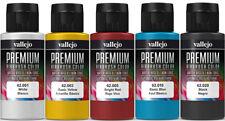 Vallejo Airbrush Premium Farben Set 5x 60ml *Basis Airbrushfarben Acrylfarben