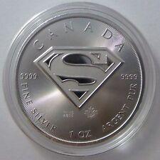 2016 Canadian 1 oz Canadian Superman .9999 Silver Bullion Coin