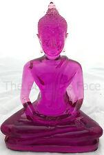"Buddha Statue Purple 15cm (6"") Coloured Resin"
