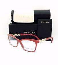 New Bvlgari Eyeglasses BV 4116 B 5380 Top Crystal On Raspberry 54•16•140 W/Case