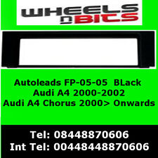 FP-05-04 AUDI A4 / Chorus 2002> Black Fascia Facia Adaptor Panel Surround