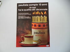 advertising Pubblicità 1972 CAFFE' CAFE' PAULISTA