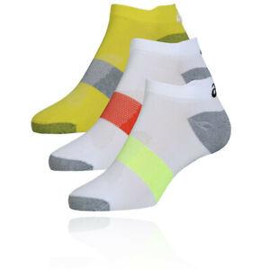 Asics Mens Lyte Running Socks - White Yellow Sports Breathable Lightweight