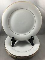"4 Sakura 1996 Classic Gold Dinnerware 7 1/2"" Salad Plates"