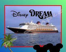 2.5X3 Disney Ship at Sea DREAM, FANTASY, MAGIC, WONDER - Flexible Fridge MAGNET
