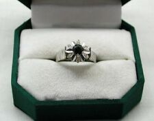 A Very Lovely 18ct White Gold Sapphire And Diamond Ring