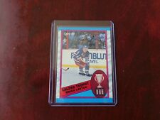 1989-90 O-PEE-CHEE BRIAN LEETCH ROOKIE CLADER TROPHY #321.
