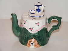 Antique Style Kitchen Table With Dog Teapot