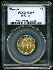 1992-W $5 Olympic Gold Commemorative MS69 PCGS 21367201