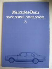 Prospekt Mercedes S-Klasse W126 380 SE SEL 500 SE SEL MY 1982 1983 UK brochure
