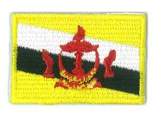 Patch écusson patche drapeau Sultanat Brunei petit 4,5 x 3 cm brodé