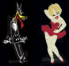 Tex Avery Patch Set Big Bad Wolf and Red Hot Classic Cartoon Pinup blonde