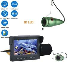 "4.3"" LCD Monitor 15M 1000TVL Fish Finder IR LED Night Vision Camera Underwater"
