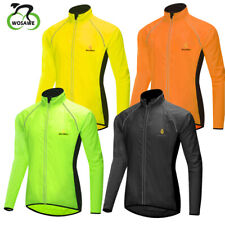 Men MTB Cycling Coat Bike Windbreaker Long Sleeve Jacket Reflective Waterproof