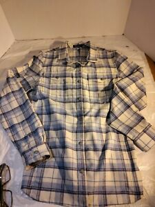 IBEX Long Sleeve ALL WOOL Gray Shirt Mens Medium Button Up Metal Buttons