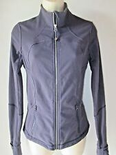 Lululemon Define Jacket Size 6 Thumb Holes Full Zip Blue Purple Yoga Fitness