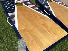 American Flag Half Triangle Cornhole Board Set