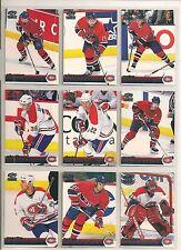 1998-99 Pacific Paramount EMERALD Montreal Canadiens Team Set (9) Recchi Etc.