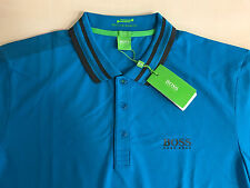 "Men's Hugo Boss Green Label ""PAULE PRO"" POLO Shirt,COLOR:BLUE,Size-3XL/XXXL,."