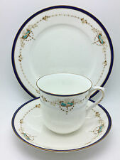 1940s Shelley Art Deco Cup Saucer & Plate Fruit with enamel and gilding No.11422