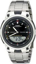 Casio Men's Ana-Digi Databank 10Yr Battery Stainless Steel/Resin Watch AW80