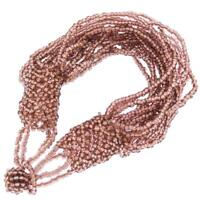 LUSCIOUS RICH SPARKLING CHAMPAGNE BEADS BEADED bracelet
